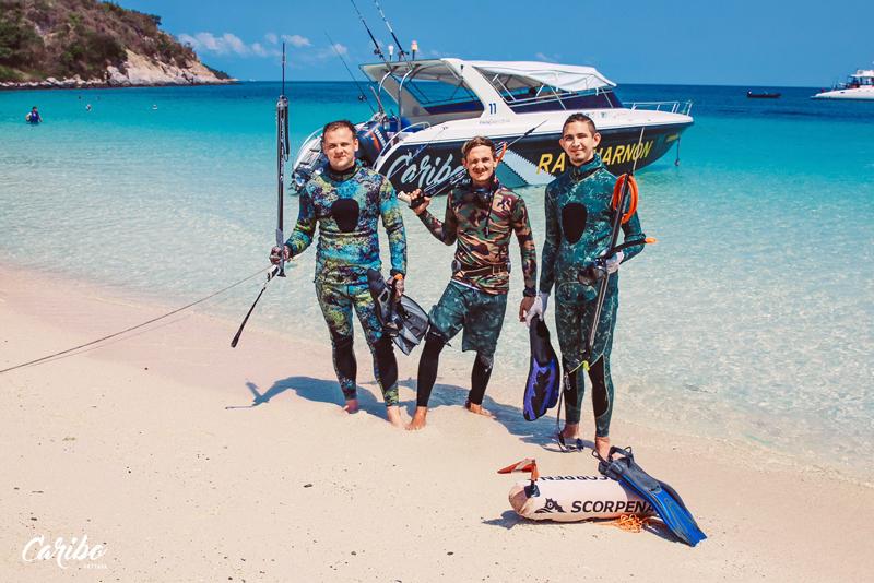 Подводная охота на экскурсии Карибо