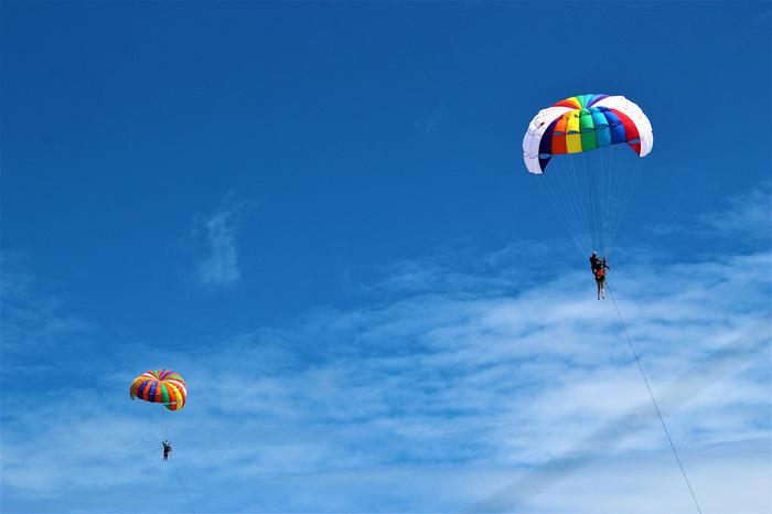 парашют на Самете