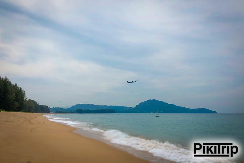 самолеты с южной части пляжа