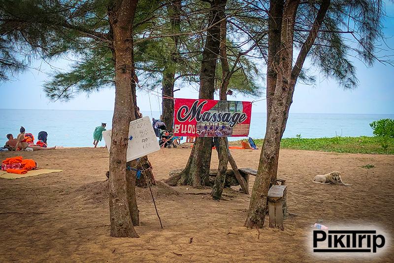 массаж на пляже Май Кхао