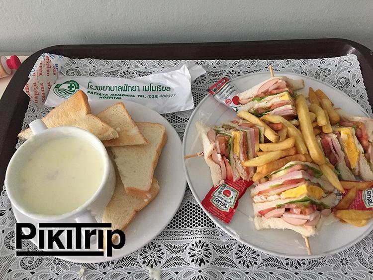 еда в больнице
