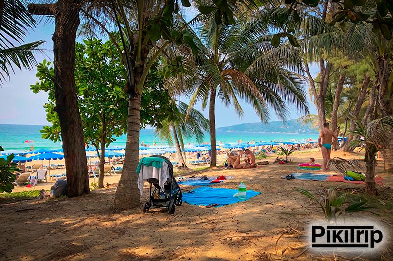 пляж Карон с детьми