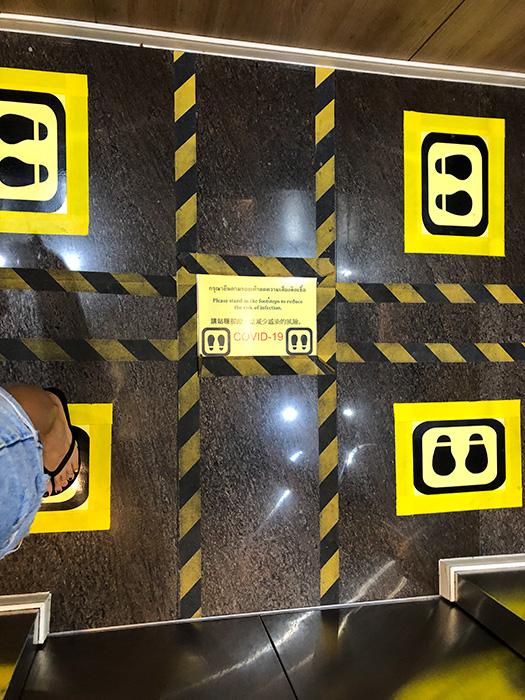 схема в лифте разметка